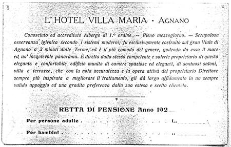 Hotel Villa Maria - Napoli - Cartolina storica